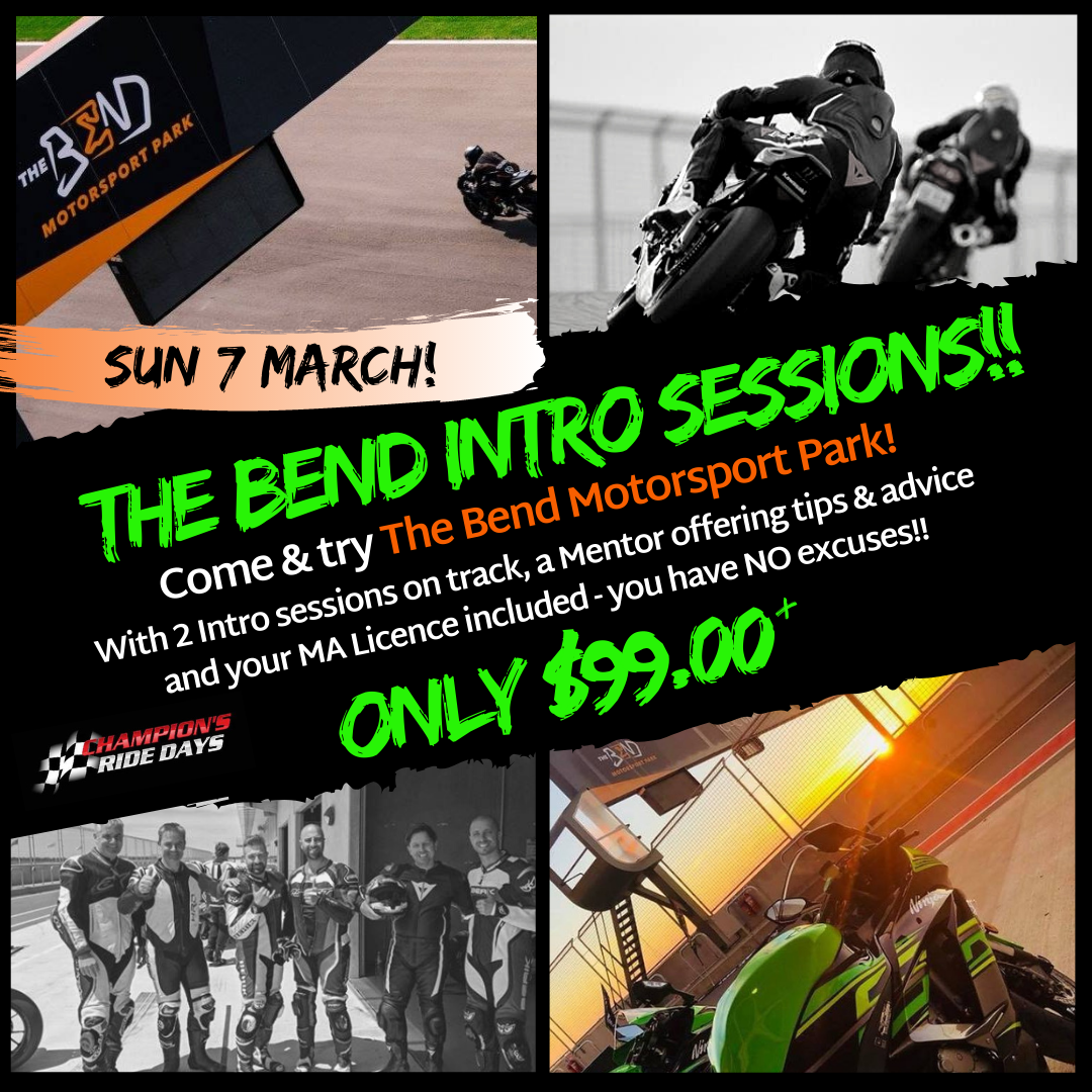 The Bend Motorsport Park** INTRO SESSION ONLY**